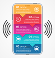 Mobile business infographics vector image