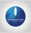 national immunization awareness month logo icon vector image vector image