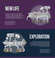 new life concepts with research rovers vector image
