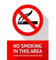 no smoking area vector image vector image