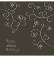 Ornament with snowflakes vector image