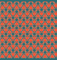 pattern with strips of circles in hexagons vector image vector image
