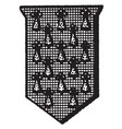 pean shield fur is a shield or escutcheon vector image vector image