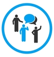 People Discussion Icon vector image vector image