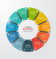 pie chart infographic template 11 options vector image vector image