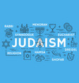 poster of judaism religious line symbols vector image vector image