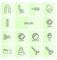 salon icons vector image vector image