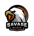 savage bird eagle sports logo vector image vector image