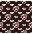 Seamless pattern Bud roses vector image vector image