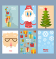 Set Christmas cute cards Beautiful congratulations vector image