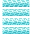 set geometrical seamless patterned borders vector image vector image