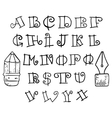 Set handwriting author of the English font vector image