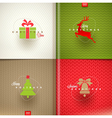 Set of Christmas greeting design vector image vector image