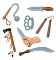 set of cold arms cartoon vector image vector image