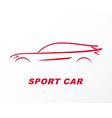 silhouette of a sports car carved on paper vector image vector image