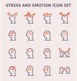 stress emotion icon vector image