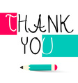 Thank You Title vector image vector image
