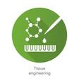 tissue engineering green flat design long shadow vector image vector image
