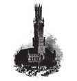 town hall uncaring demolitions vintage engraving vector image vector image