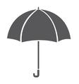 Umbrella icon isolated on white background Grey vector image