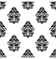 White and black classic floral seamless pattern vector image vector image