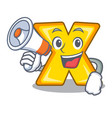 with megaphone character cartoon multiply sign for vector image vector image
