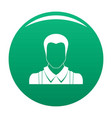 worker avatar icon green vector image vector image