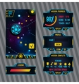 Futuristic space game interface with screen vector image