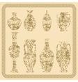 Set of antique vases vintage vector image
