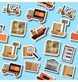 Color Logistics flat collage vector image