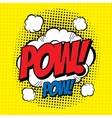 Pow comic vector image