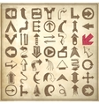 49 hand draw sketch arrow element collection icons vector image