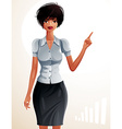 a young pretty businesswoman with a modern hairc vector image vector image