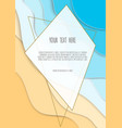 abstract blue sea and beach summer background vector image