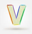 Alphabet letter V Watercolor paint design element vector image vector image