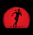 athlete runner a woman runner running designed