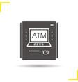 atm machine icon vector image