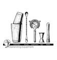 bartending equipment vector image vector image