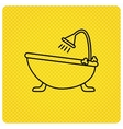 Bathroom icon Bath with shower sign vector image vector image