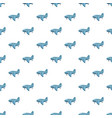 blue airplane pattern vector image