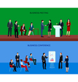 Business People Group Horizontal Banners vector image vector image