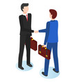 businessmen shaking hands flat vector image vector image