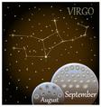Calendar of the zodiac sign Virgo vector image vector image