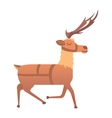 Cartoon deer animal vector image vector image
