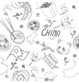 China Icons Pattern vector image vector image