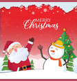 christmas background with santa claus and the vector image