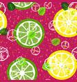 citrus fruit seamless pattern vector image vector image
