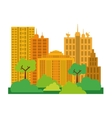 City design Building icon Colorful vector image vector image