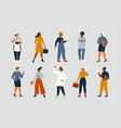 collection women people workers various vector image
