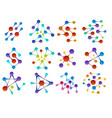 colourful biology molecules structure shapes vector image